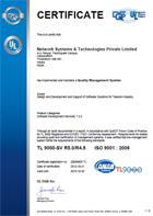 TL 9000 Certificate representation.